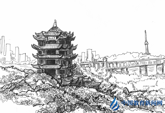 """大学教师30幅钢笔画作再现武汉战""""疫""""英雄瞬间"""